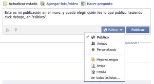Muro Facebook: configuración de privacidad