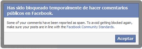 Facebook te cerró o bloqueó la cuenta temporalmente